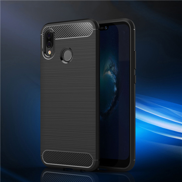 ​Premium carbon fiber case slim shockproof cover for Huawei P20 Lite