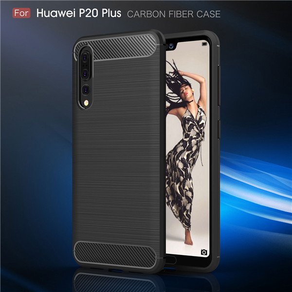 Unique carbon fiber case thin shockproof case for Huawei P20 Plus