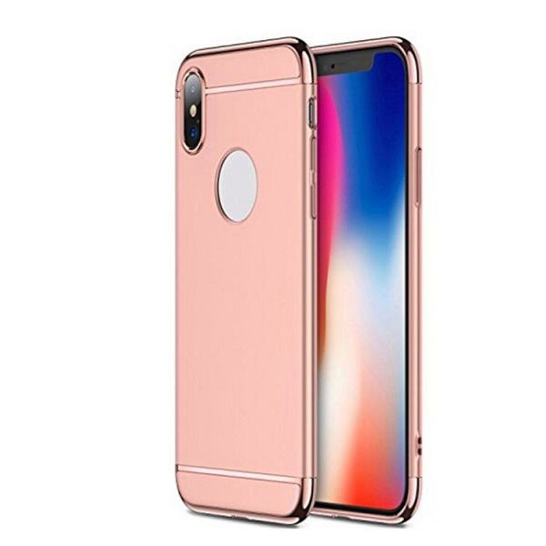 3 in 1 Combo Ultra Thin Hard Cover Case For iPhone X 10