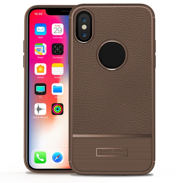 Luxury Lichi Mobile Phone Case For Iphone x
