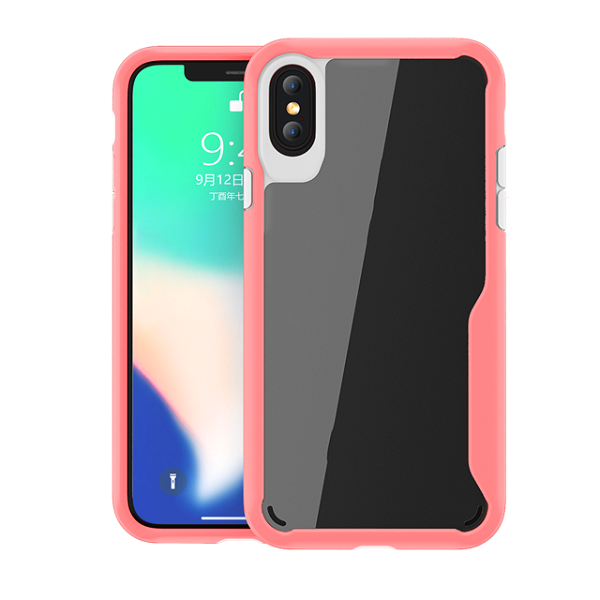 PC + TPU Ultra-Thin Hybrid Shock Case For iPhone X
