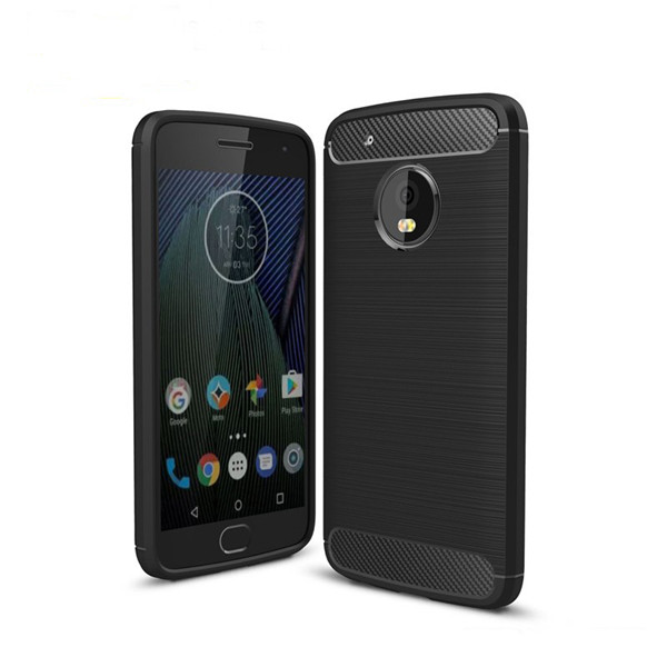Premium For Moto G5 Plus Brush TPU Case Cover