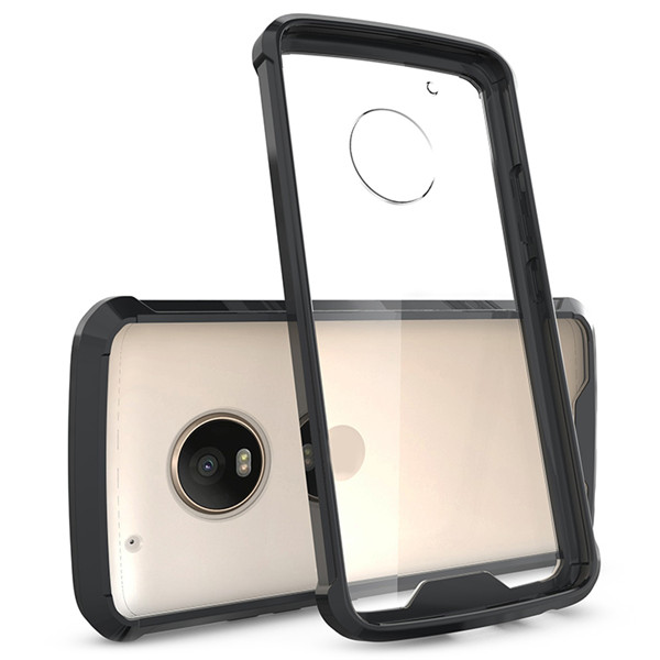 Moto G5 plus Clear TPU PC Shockproof Case