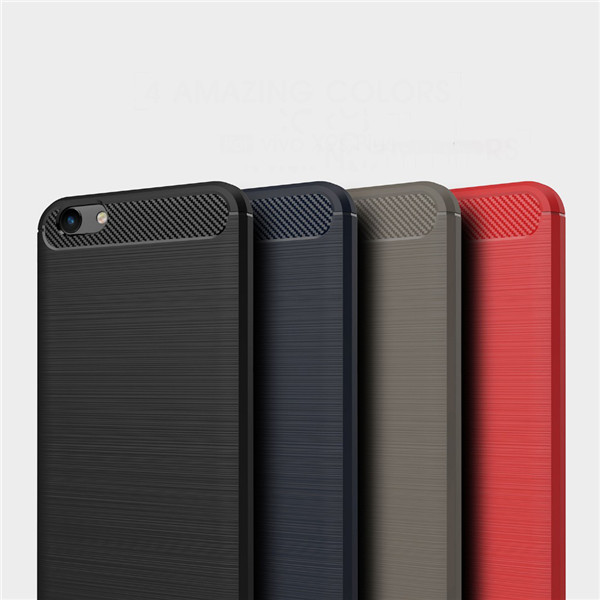 Carbon Fiber Case Brushed Cover For Vivo X9s Plus​