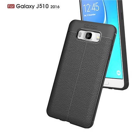 For Samsung J5 2016 TPU Lichi Leather Pattern Back Cover Case