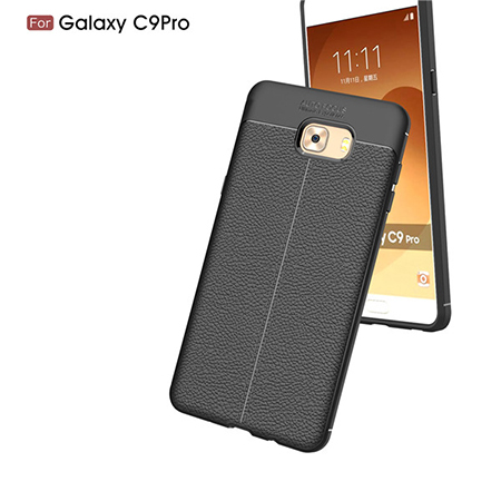 For Samsung Galaxy c9 pro TPU Lichi Leather Pattern Back Cover Case