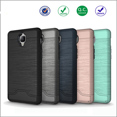 Newest design Shockproof tpu+pc case for one plus3