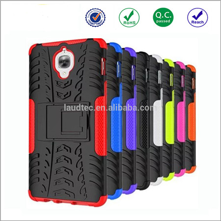 Rugged tpu+pc back cover for one plus 3