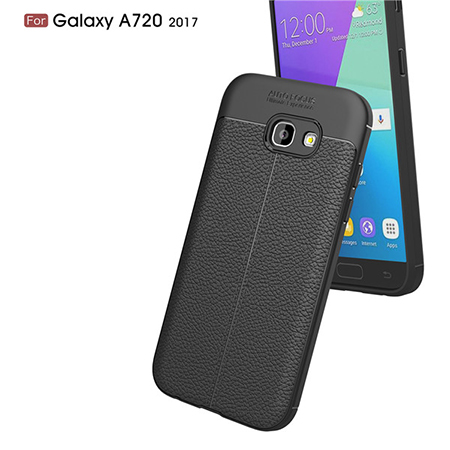 Premium Quality TPU Lichi Leather Phone Case For Samsung Galaxy A7 2017