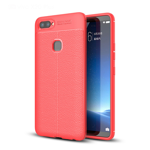 Hot TPU Leather Skin Shockproof Case For Vivo X20 Plus
