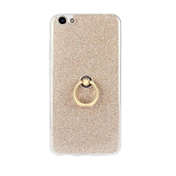 Soft TPU Ring Protector Bling Case For Vivo Y66