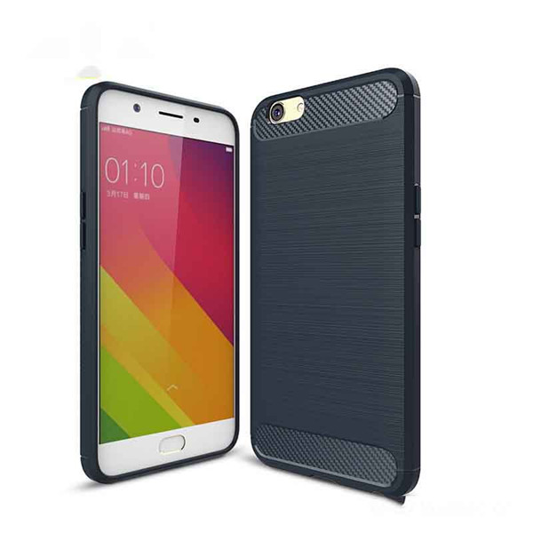 Carbon Fiber Resilient TPU Armor Case for Oppo A59
