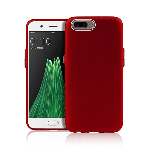 Metal Button Silicone Blank Case For OPPO R11