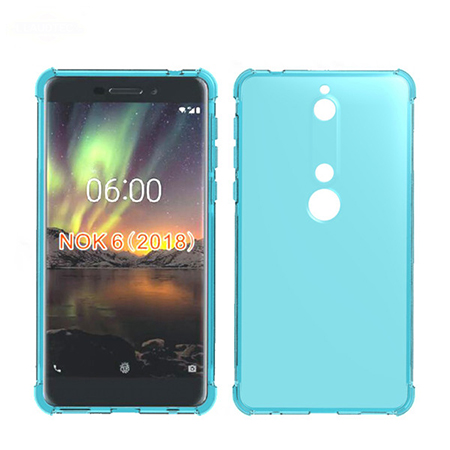 Clear Transparent Soft TPU Gel Rubber Cover Case for Nokia 6