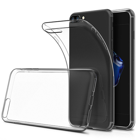 Soft TPU Transparent Protector Clear Case for iPhone 8 Plus