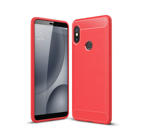 Soft TPU Rugged Armor Case Protective Case For Redmi Note 5 Pro Fiber Cover