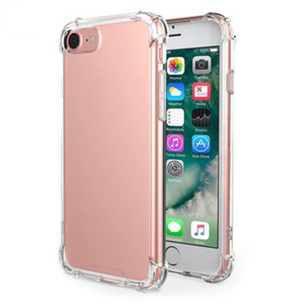 Clear Corner Protective PC Phone Case For Iphone8