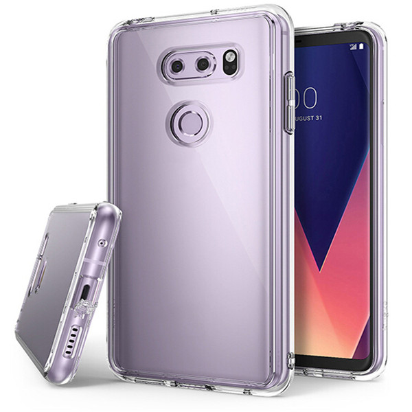 Transparent soft Tpu Side Pc Shell For Lg V30