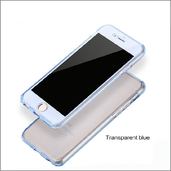 Newly design ultra-thin full cover tpu case for iphone 6 360 degree to protect cell phone