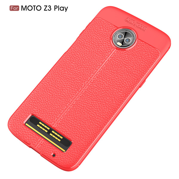 Leather Style Carbon Fiber Case for Motolola Z3 Play Case