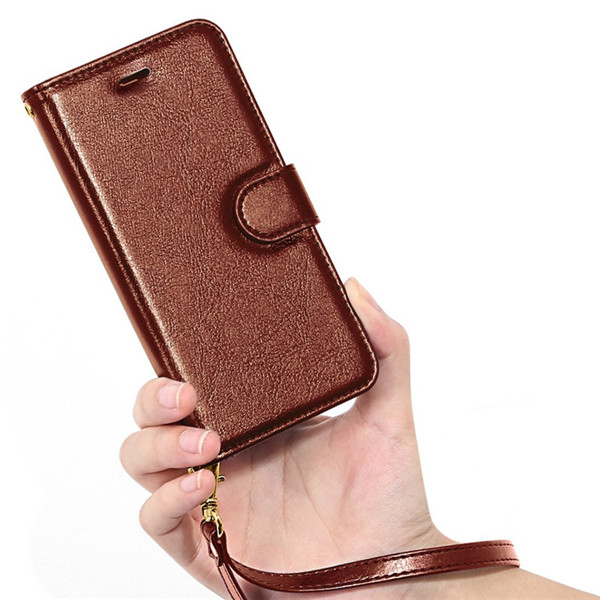 Premium Flip Leather Wallet Cover For Iphone 8