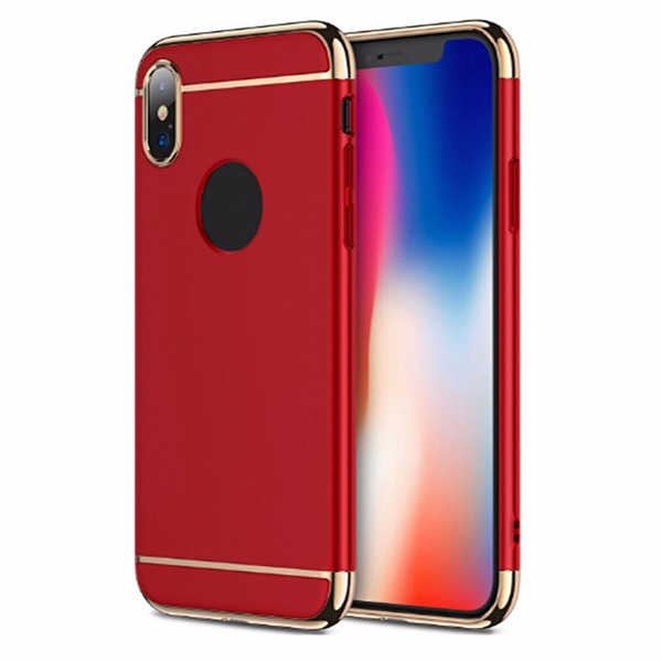 For iPhone X Cover 3 in 1 Combo Ultra Thin Hard PC Cover Case For iPhone 10 Case Luxury