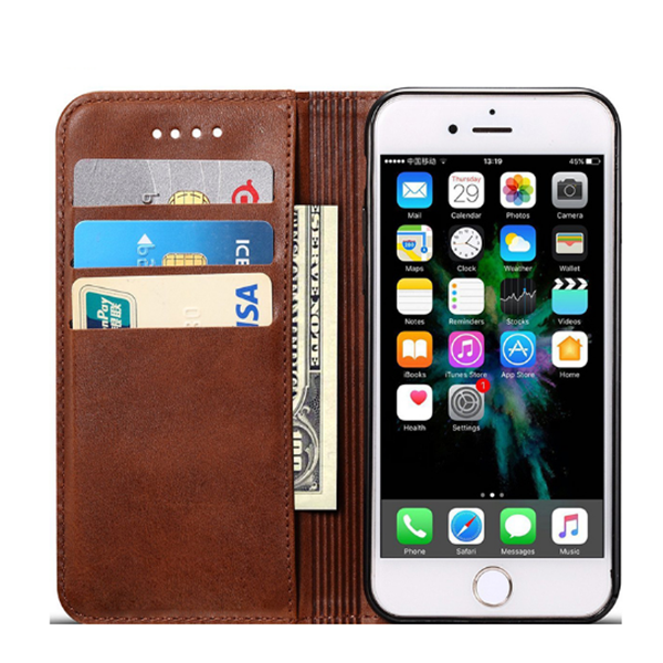 Leather Wallet Case For iPhone X Cover With Card Slots