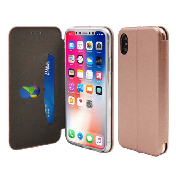 Luxury Leather Cover Stand Case For Iphone X