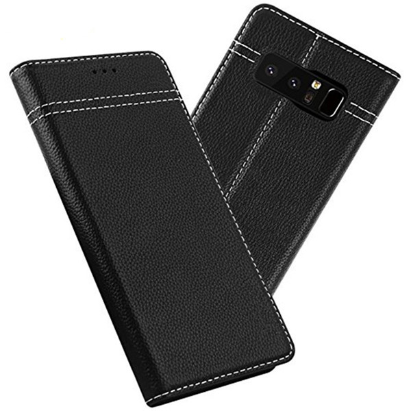 Genuine Leather Wallet Case for Samsung Galaxy Note 8