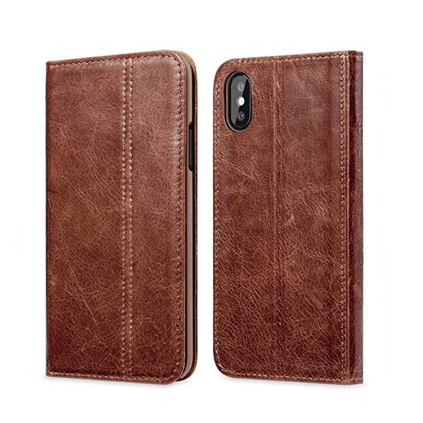 Luxury Genuine Leather Case for iPhone X