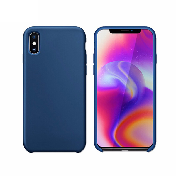 Liquid Silicone Gel Rubber Shockproof Case for iphone X 10 with Soft Microfiber Cloth Lining Cushion