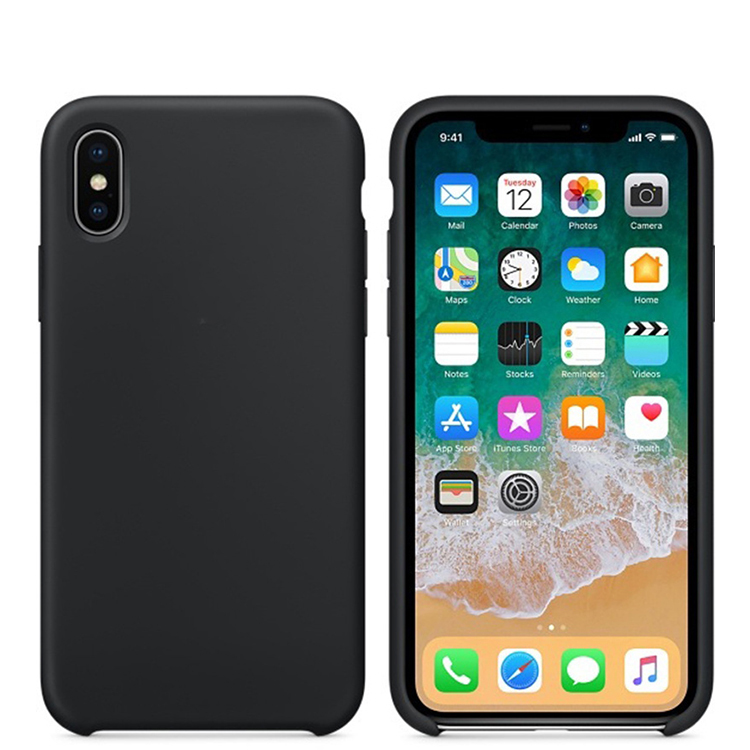 luxury liquid silicone protective shockproof For iPhone X