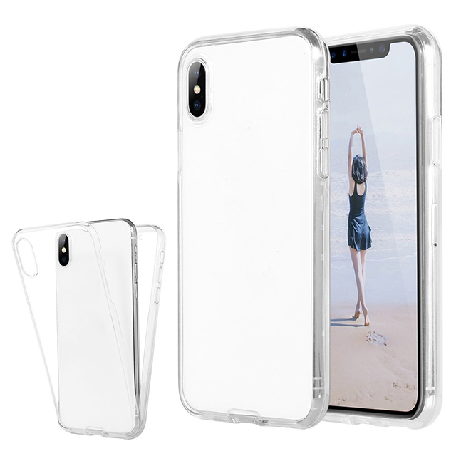 360 Transparent TPU Clear Case For Iphone X Case