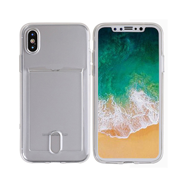 Transparent soft tpu back case for iphone x