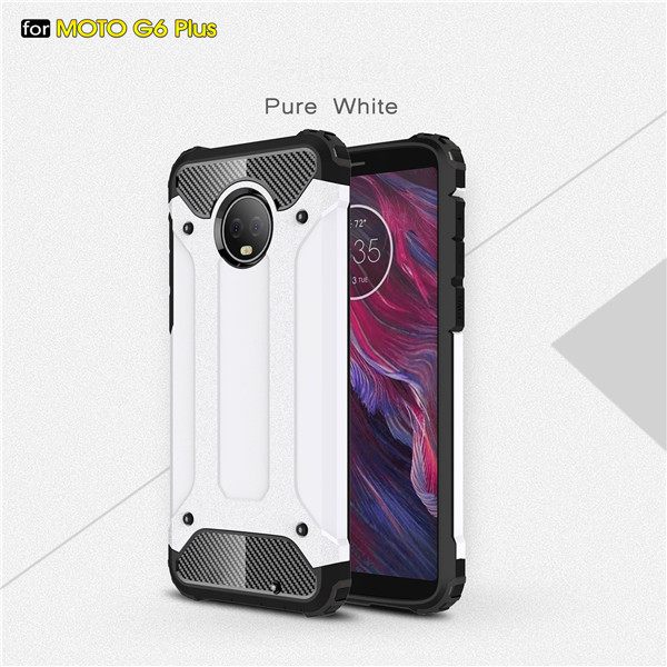 High Quality TPU+PC 2 in 1 Case for Moto G6 plus