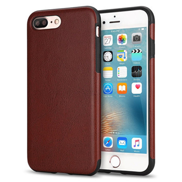 Dual Layer premium Leather + PC shockproof mobile phone Case for Iphone 7 Plus