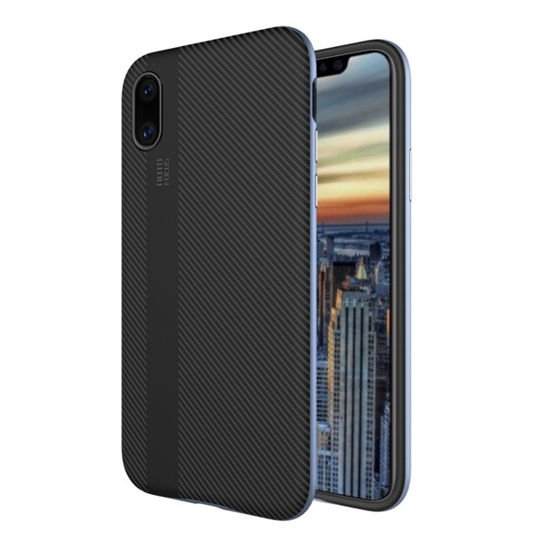 Carbon Fiber TPU PC Phone Case For Iphone X