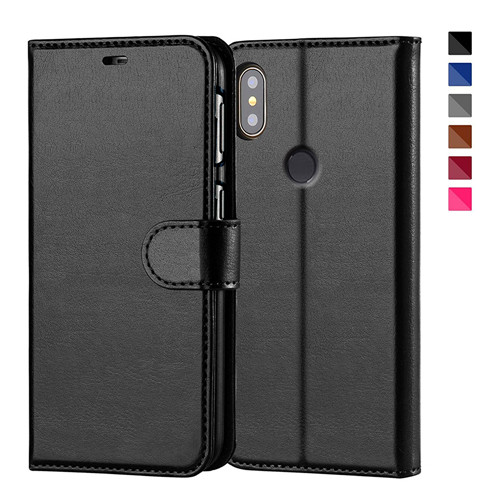 Best Quality Black PU Leather Wallet Case for Xiaomi 8