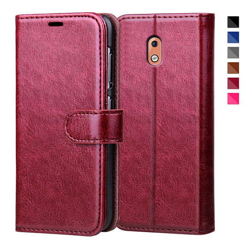 Top Selling Crystal Polish Leather Case for Nokia 2 2018