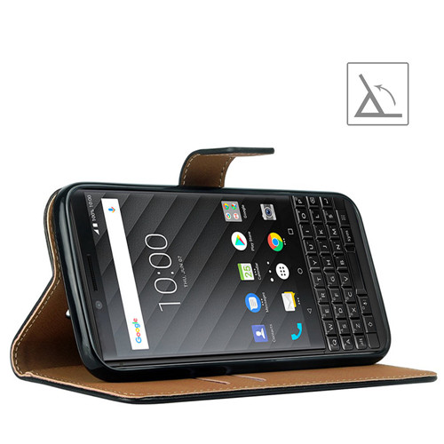 Retro Genuine Second-layered Leather Phone Case for Blackberry Key 2