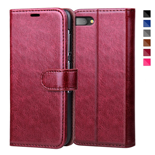 Reddish Brown Flip Leather Case For Blackberry Key 2