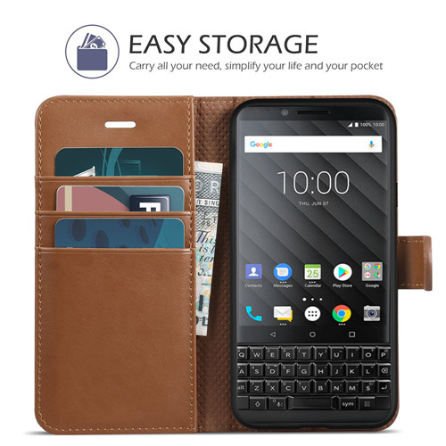 Blackberry Key 2 Luxurious Genuine Leather Wallet Case