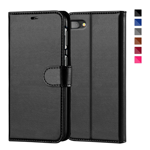 Crystal Polish Leather Wallet Case for Blackberry Key 2 In Black
