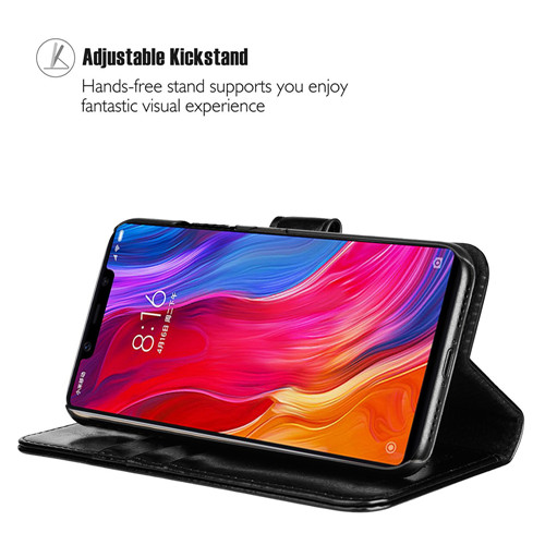 Xiaomi MI8 SE Crystal Polish Leather Case In Black