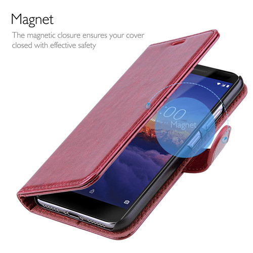 Hot Selling Flip Leather Wallet Case For Nokia 3 in Reddish Brown