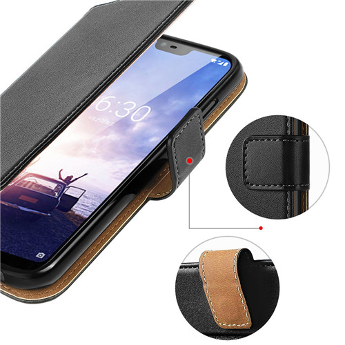 Nokia X6 Flip Second-layered Leather Case