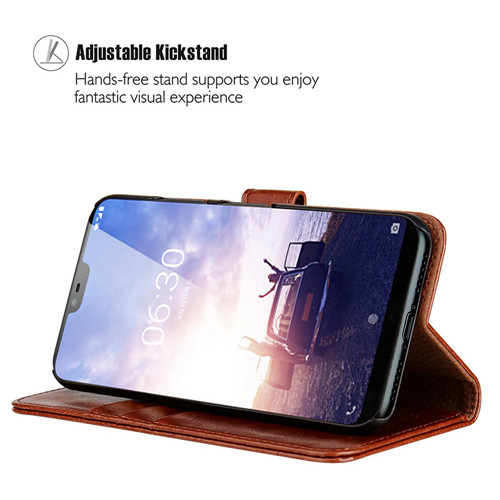 Nokia X6 Leather Phone Case in Elegent Brown 2018