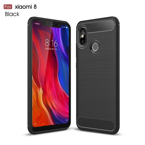 Phone Accessories Luxury TPU Carbon Fiber Phone Case for Xiaomi 8