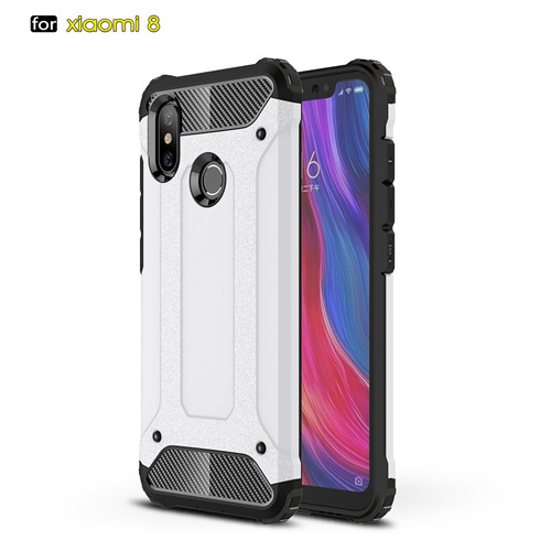 Carbon Fiber Hybrid TPU Phone Case for Xiaomi 8