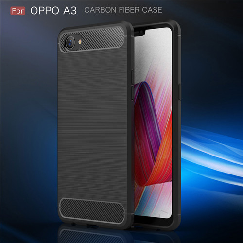 Brush Carbon Fiber Phone accesorry Phone Case for Oppo A3
